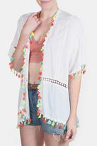 En Creme Neon Lights Tassel Kimono