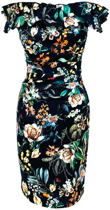 Mellaris Katarina Dress Dark Garden Print