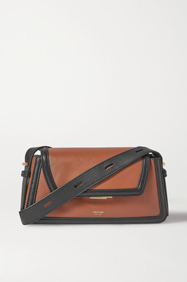 Oroton Camille Two-tone Leather Shoulder Bag - Tan