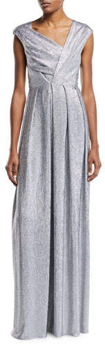 Talbot Runhof Asymmetric Stretch Mirrorball Gown