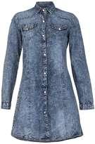Izabel London **Izabel London Blue Washed Tone Dress