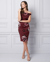 Le Château Floral Print Knit Crepe Shift Dress