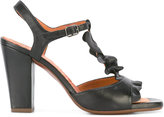 Chie Mihara ruffle-front sandals - women - Leather/rubber - 40