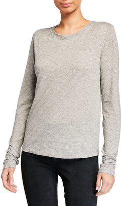 Vince Essential Long-Sleeve Crewneck Tee