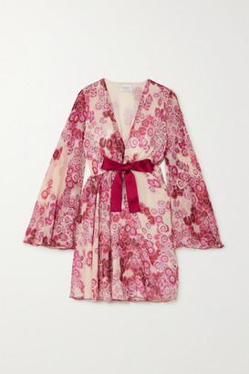 Giambattista Valli Floral-print Silk-georgette Mini Dress - Pink