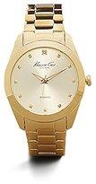 Kenneth Cole New York Women's KC4949 Rock Out Yellow Gold Dial Diamond Dial Bracelet Watch