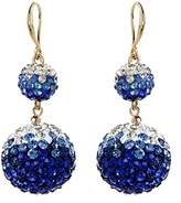Amrita Singh Crystal & Resin Drop Earrings.