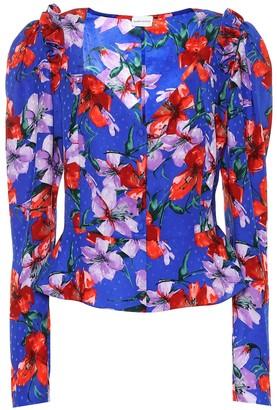 Magda Butrym Evora silk jacquard blouse