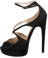 Casadei Satin Platform Sandals