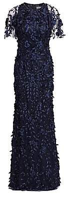 Theia Women's Beaded Floral Gown
