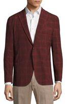 Boglioli Plaid Patterned Regular-Fit Jacket
