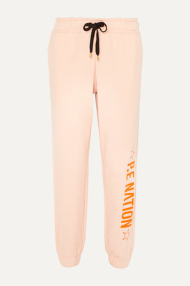P.E Nation Exposure Printed French Cotton-terry Track Pants - Blush