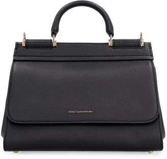 Dolce & Gabbana Sicily Soft Pebbled Leather Handbag