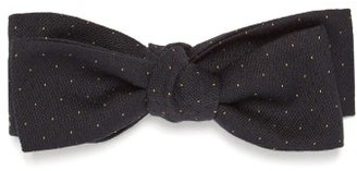 Comme Les Loups - Jeremy Fisher Dot-jacquard Wool Bow Tie - Mens - Navy