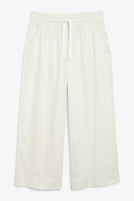 Monki Elastic waist trousers