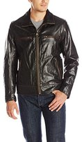 Andrew Marc Men's Waverly Distressed Leather Biker Jacket