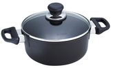 Scanpan Classic Low Sauce Pan with Lid and Steamer Insert
