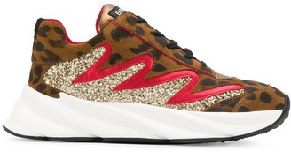 Strategia E2214 leopard print sneakers