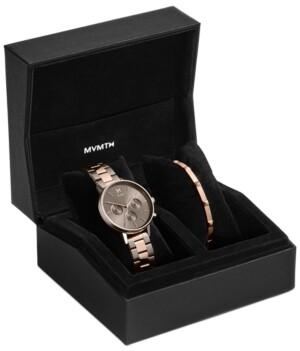 MVMT Women's Chronograph Nova Orion Two-Tone Steel Bracelet Watch Set 38mm