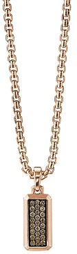 David Yurman Streamline Amulet in 18K Rose Gold with Cognac Diamonds