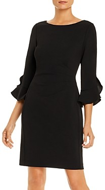 Karl Lagerfeld Paris Bell-Sleeve Scuba Dress