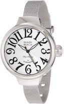 Glam Rock Women's Miami Beach Art Deco 36mm Steel Bracelet & Case Quartz -Tone Dial Watch MBD27143