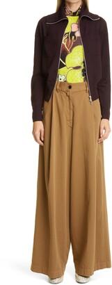 Dries Van Noten Madeira Metallic Merino Wool Blend Pants