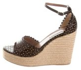 Tabitha Simmons Laser Cut Wedge Sandals