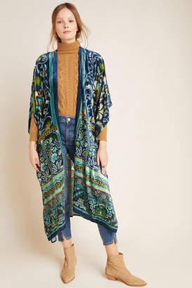 Anthropologie Luca Burnout Velvet Kimono