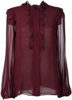 Giambattista Valli ruffled longsleeved blouse