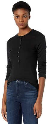 LAmade Runyon 2x1 Modal Stretch Rib Henley Top (Ash Rose) Women's Clothing