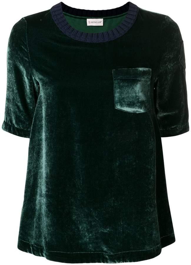 Moncler velvet T-shirt