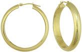 Neiman Marcus 14k Yellow Gold Polished Hoop Earrings, 32mm