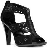 MICHAEL Michael Kors Berkley Kid Suede Floral T-Strap Sandals