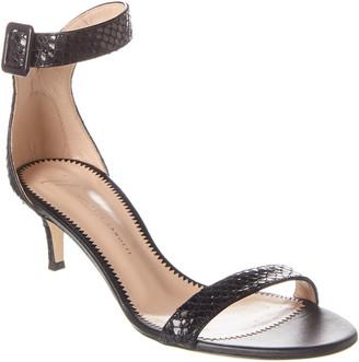 Giuseppe Zanotti Snake-Embossed Leather Sandal
