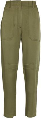 Veronica Beard Miranda High-Rise Satin Trousers
