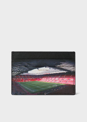 Paul Smith & Manchester United 'Stadium' Print Leather Credit Card Holder