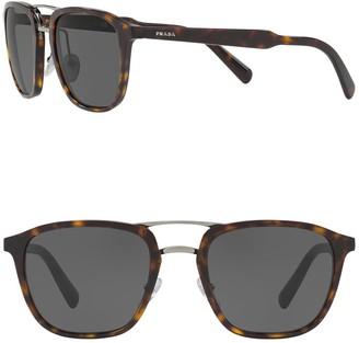 Prada 54mm Pillow Square Matte Sunglasses