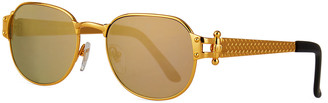 Vintage Frames Company Men's 1999 Masterpiece Gold-Plated Sunglasses