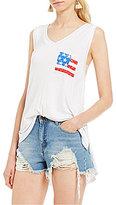 Rossmore by PPLA Americana Pocket V-Neck Tank Top