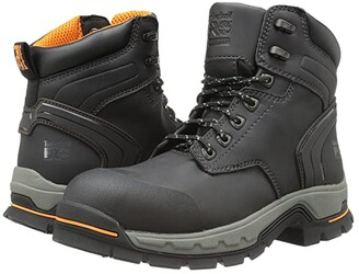 Timberland 6 Stockdale Alloy Safety Toe (Black Micofiber) Men's Work Boots