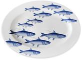 Caskata School of Fish Oval Platter - White/Blue