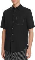 Rag & Bone Beach Short Sleeve Slim Fit Button-Down Shirt
