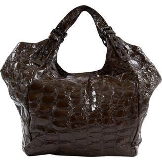 Givenchy Khaki Patent leather Handbags
