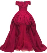 Thumbnail for your product : ZUHAIR MURAD Taffeta Off-The-Shoulder Gown