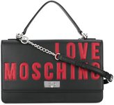 Love Moschino logo flap shoulder bag