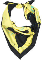 Hermes Le Monde Silk Triangle Scarf