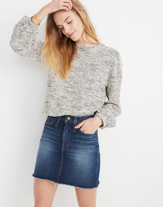 Madewell Stretch Denim High-Waist Straight Mini Skirt in Hayson Wash
