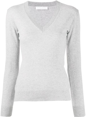 Fabiana Filippi fitted v-neck jumper