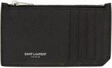 Saint Laurent Black 5 Fragments Card Holder
